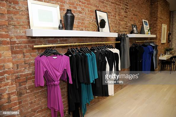 Atmosphere at OF Mercer NYC retail flagship boutique opening celebration on October 22 2015 in New York City