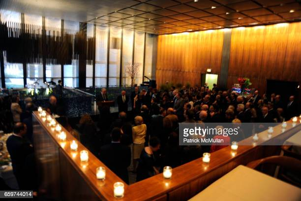 Atmosphere at PARADE MAGAZINE and SI Newhouse Jr honor Walter Anderson at The 4 Seasons Grill Room on March 31 2009 in New York City