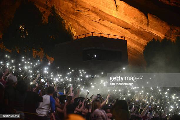 Atmosphere at Red Rocks Amphitheatre on August 25 2015 in Morrison Colorado