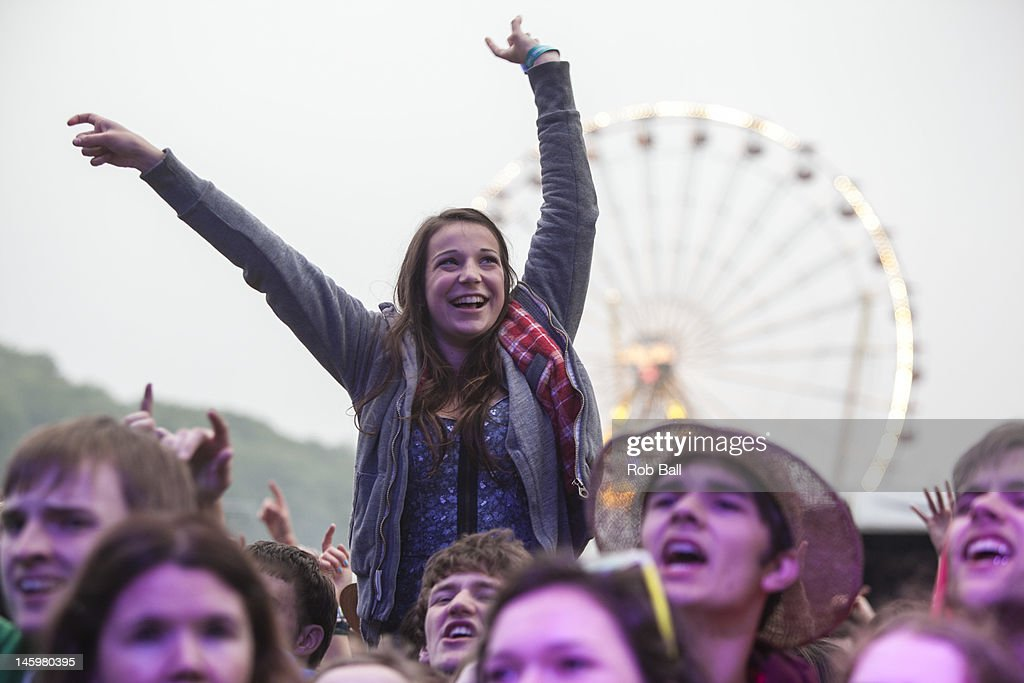 atmosphere at RockNess festival at Village Of Dores on June 8, 2012 in Inverness, Scotland.