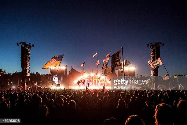 Atmosphere at Roskilde Festival on July 2 2015 in Roskilde Denmark