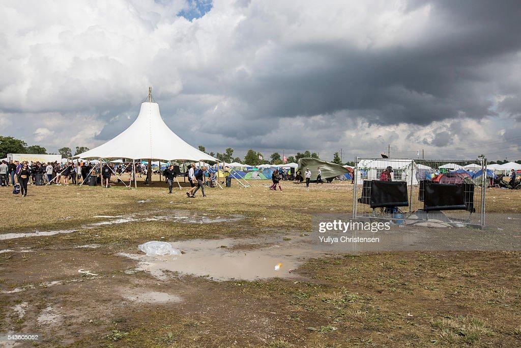 Atmosphere at Roskilde Festival on June 29, 2016 in Roskilde, Denmark.