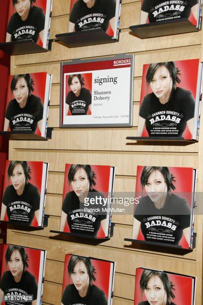 Atmosphere at Shannen Doherty book signing of her book 'Badass' at Borders Books on November 2 2010 in New York City