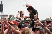 Atmosphere at T In The Park at Strathallan Castle on July 10 2016 in Perth Scotland