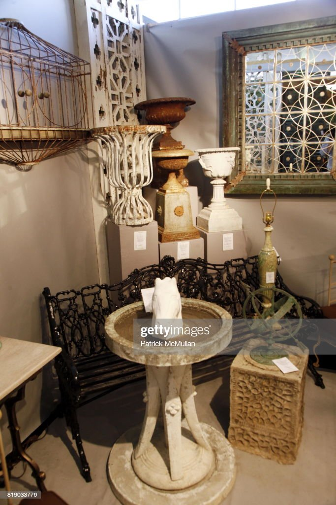 atmosphere at the 18th annual antique garden furniture show preview party collectors plant sale at