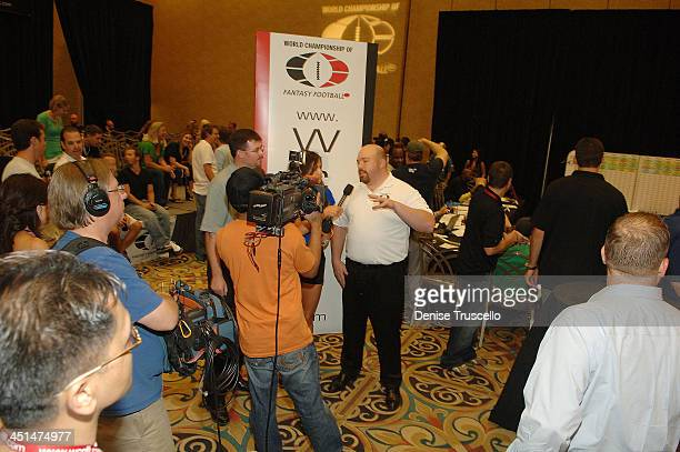Atmosphere at the 2008 World Championship of Fantacy Football Celebrity League at the Hilton Hotel and Casino on September 5 2008 in Las Vegas Nevada