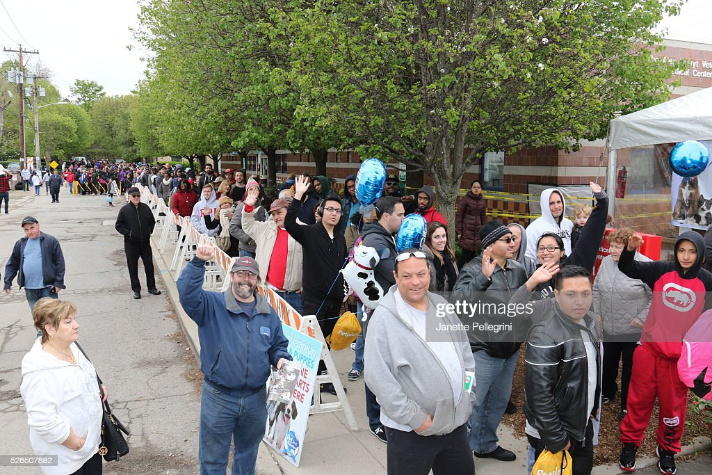 Atmosphere at the 22nd Annual Global Pet Adoption Event at North Shore Animal League America on April 30, 2016 in Port Washington, New York.