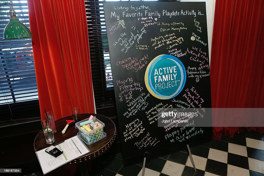 Atmosphere at the Active Family Project Kick-Off Event at Gramercy Park Hotel Rooftop on May 6, 2013 in New York City.