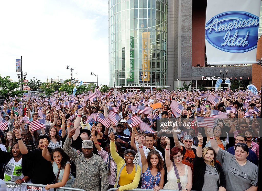 Atmosphere at the 'American Idol' Season 12 Auditions on June 23 2012 in Newark New Jersey