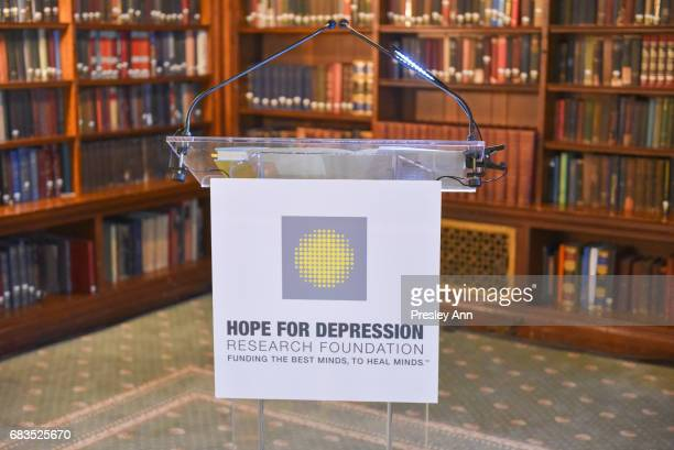 Atmosphere at the Audrey Gruss' Hope for Depression Research Foundation Dinner with Author Daphne Merkin at The Metropolitan Club on May 15 2017 in...