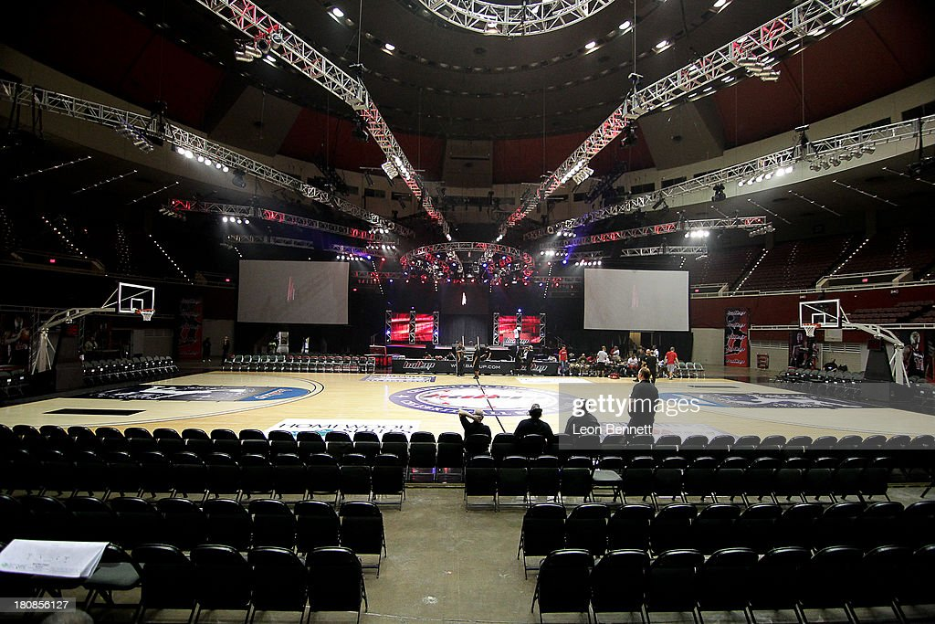 Atmosphere at the Ball Up 'Search For the Next' Tour Celebrity Game at Megafest on August 31, 2013 in Dallas, United States.