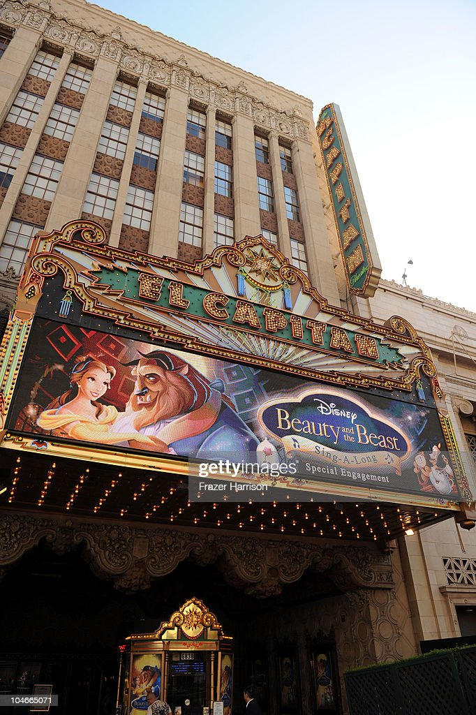 Atmosphere at the 'Beauty and the Beast' SingALong DVD premiere at the El Capitan theater on October 2 2010 in Los Angeles California