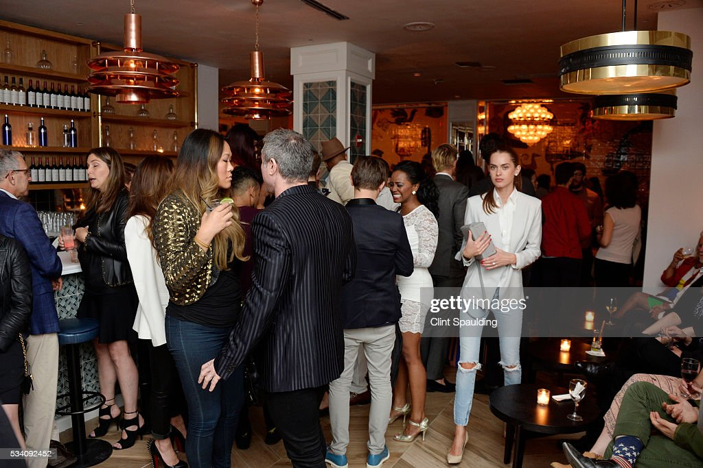 Atmosphere at the Cinema Society and Chopard host the after party for Oscilloscope's 'ma ma' at Cafe Medi on May 24, 2016 in New York City.