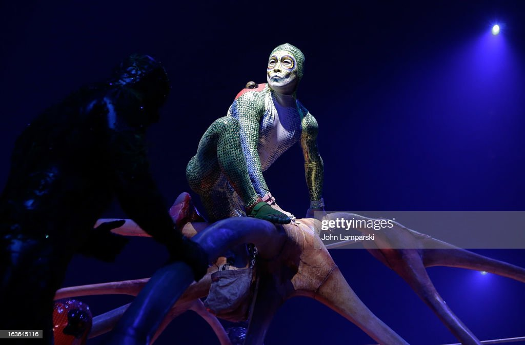 Atmosphere at the 'Cirque Du Soleil's Totem' Dress Rehearsal at Citi Field on March 13 2013 in New York City