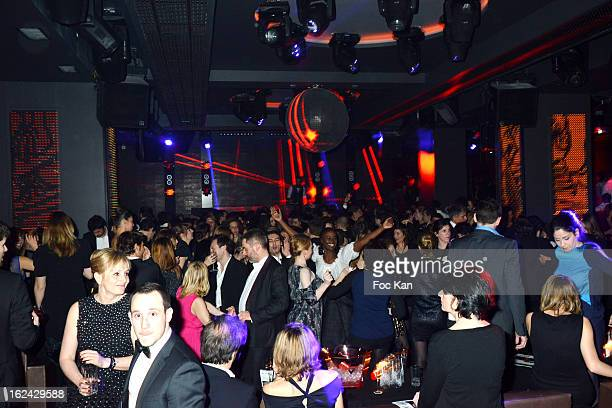 Atmosphere at the Club 79 during the Cesar Film Awards 2013 after party on February 22 2013 in Paris France