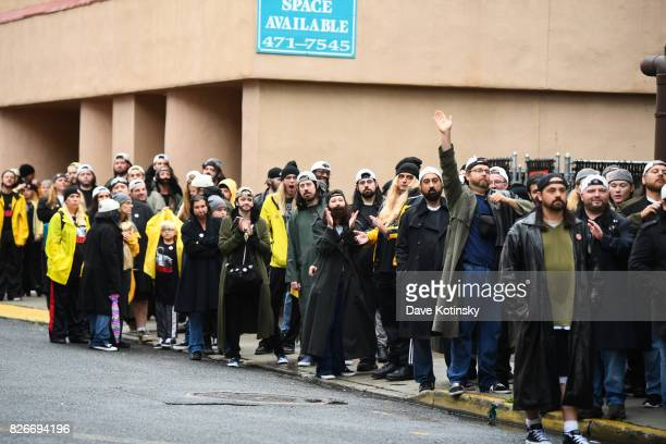 Atmosphere at the Comic Book Men Jay And Silent Bob Cosplay Guinness Book Of World Records Event on August 5 2017 in Red Bank New Jersey