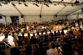 Atmosphere at the Diesel show during MercedesBenz Fashion Week Swim at Raleigh Hotel on July 14 2011 in Miami Beach Florida
