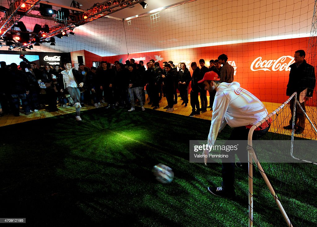 Atmosphere at the FIFA World Cup Trophy Tour Village during day three of the on February 21, 2014 in Rome, Italy.