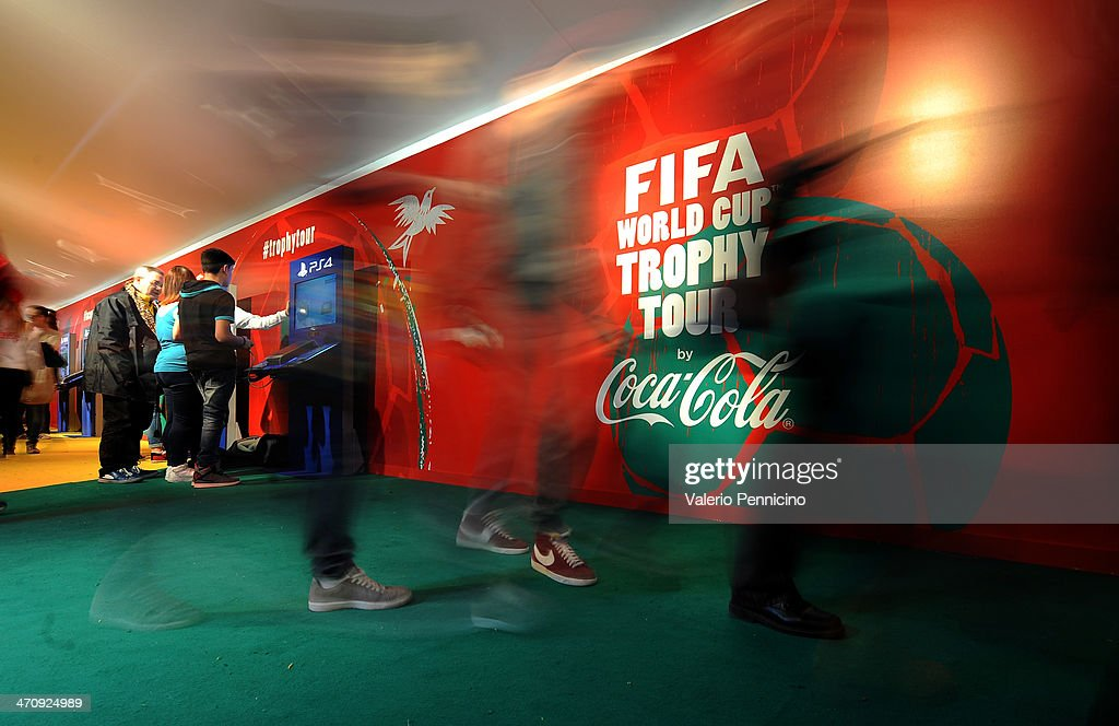 Atmosphere at the FIFA World Cup Trophy Tour Village during day three of the FIFA World Cup Trophy Tour on February 21, 2014 in Rome, Italy.