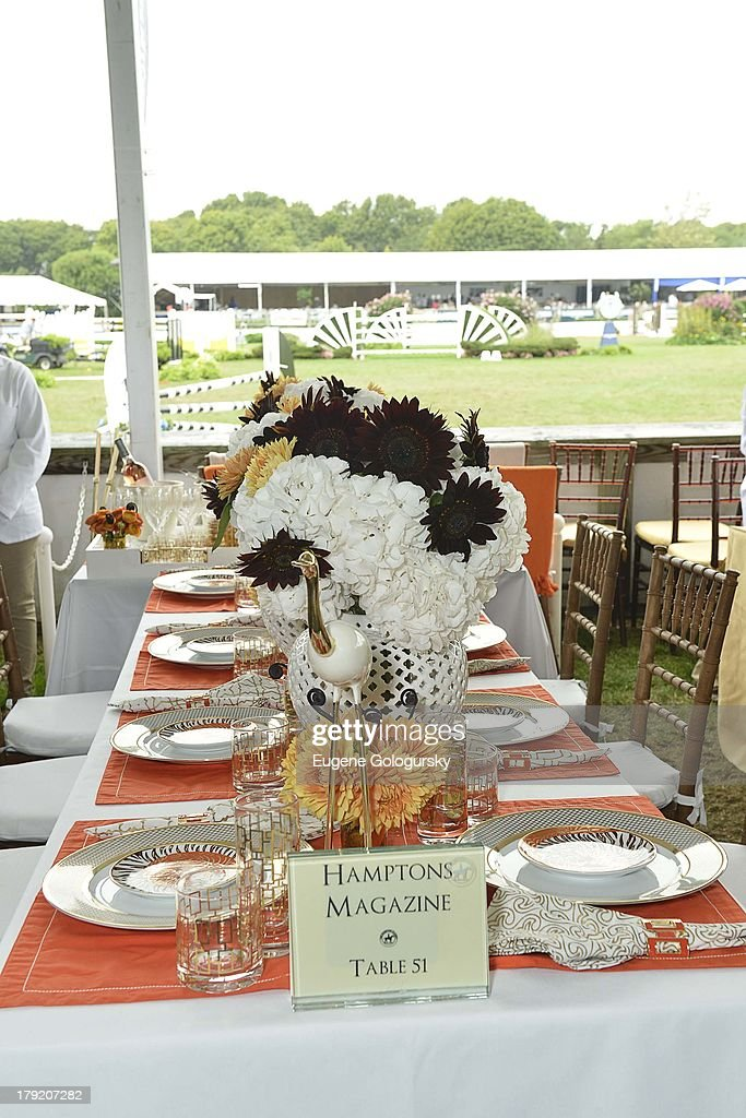 Atmosphere at the Hamptons Magazine Celebration of Grand Prix Sunday At Hampton Classic on September 1, 2013 in Bridgehampton, New York.