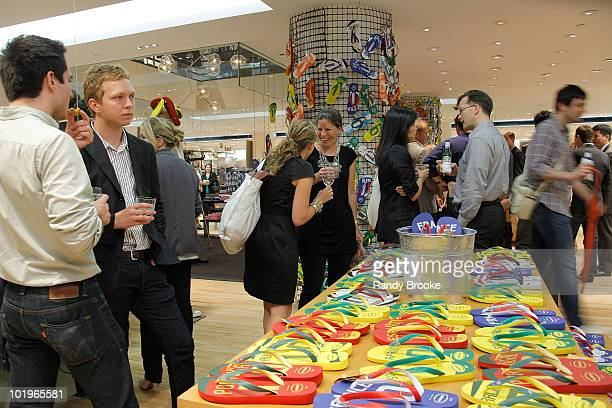 Atmosphere at the Havaianas launch at Barneys New York on June 10 2010 in New York City