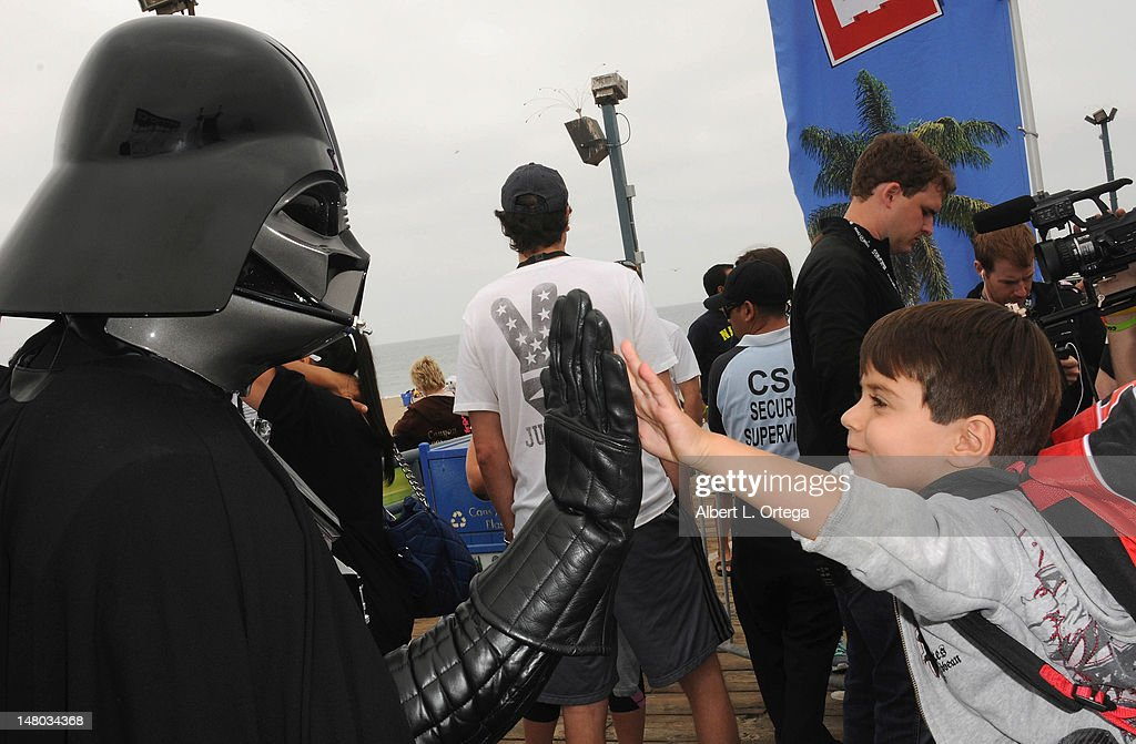 Atmosphere at The Inaugural 'Course Of The Force' Olympic Relay Run with lightsabers to Benefit The Make-A-Wish Foundation hosted by LucasFilm, Nerdist Industries and Octagon held at The Santa Monica Pier on July 7, 2012 in Santa Monica, California.