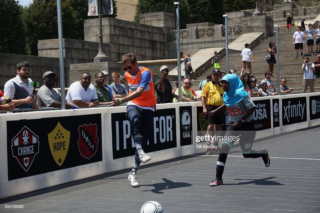 Atmosphere at the Inaugural Street Soccer USA Philadelphia Cup at the Philadelphia Art Museum May 27, 2016 in Philadelphia, Pennsylvania.
