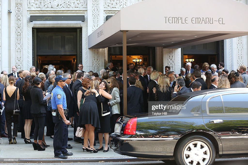 Atmosphere at the Joan Rivers memorial service at Temple EmanuEl on September 7 2014 in New York City