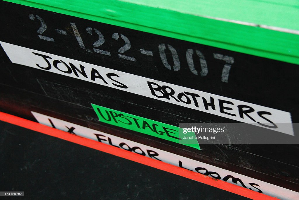 Atmosphere at the Jonas Brothers cocert at Nikon at Jones Beach Theater on July 20, 2013 in Wantagh, New York.