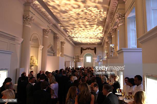 Atmosphere at the launch party for the Cartier Tank Anglaise Watch Collection at The Orangery on April 19 2012 in London England