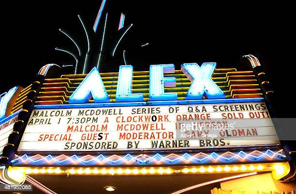 Atmosphere at The Malcom McDowell Series Of QA Screenings Presents 'A Clockwork Orange' held at The Alex Theatre on April 1 2014 in Glendale...