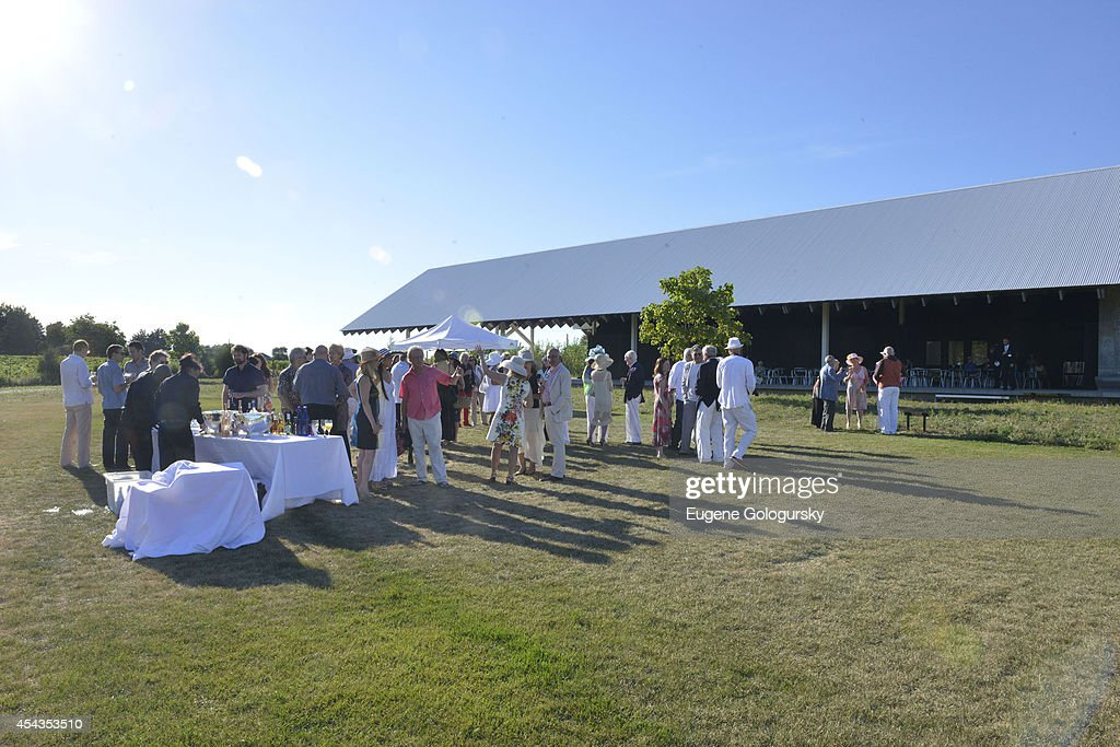Atmosphere at the Naming Celebration For Stewart F. Lane & Bonnie Comley Event Lawn at the Parrish Art Museum on August 29, 2014 in Water Mill, New York.