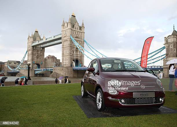 Atmosphere at the New Remastered Fiat 500 launch with an exclusive performance by Ella Eyre at Potters Field Park on September 2 2015 in London...