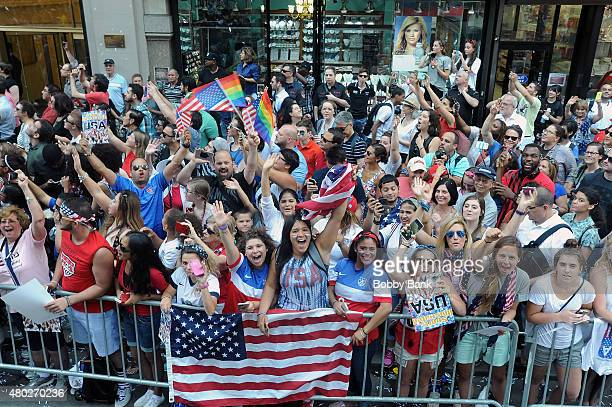 Atmosphere at the New York City Holds Ticker Tape Parade For World Cup Champions US Women's Soccer National Team on July 10 2015 in New York City