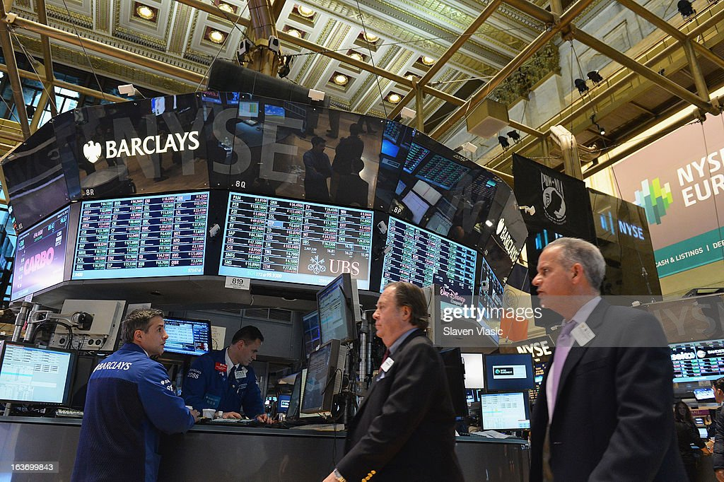 Atmosphere at the New York Stock Exchange on March 14, 2013 in New York City.