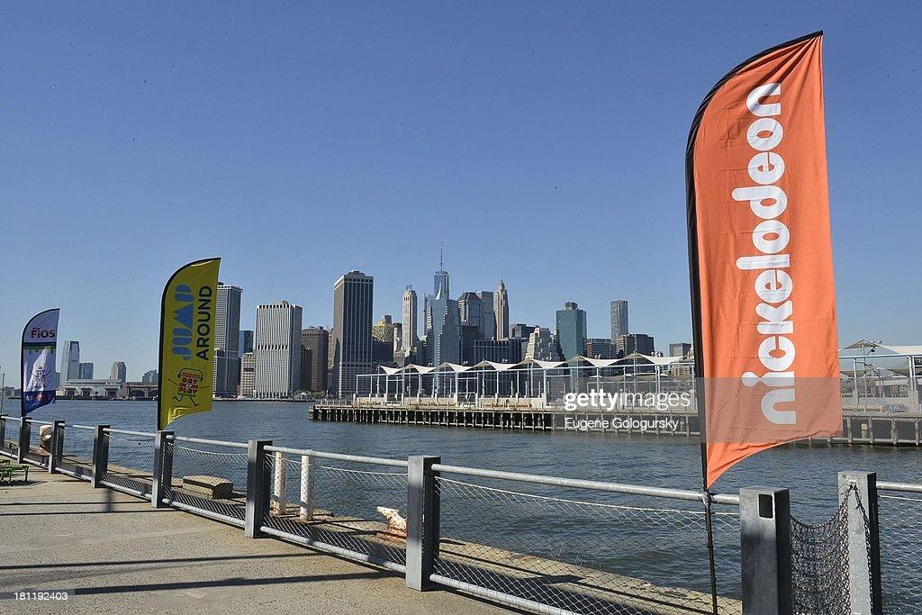 Atmosphere at the Nickelodeon And Brooklyn Bridge Park Host Mini-Triathlon on September 19, 2013 in New York City.