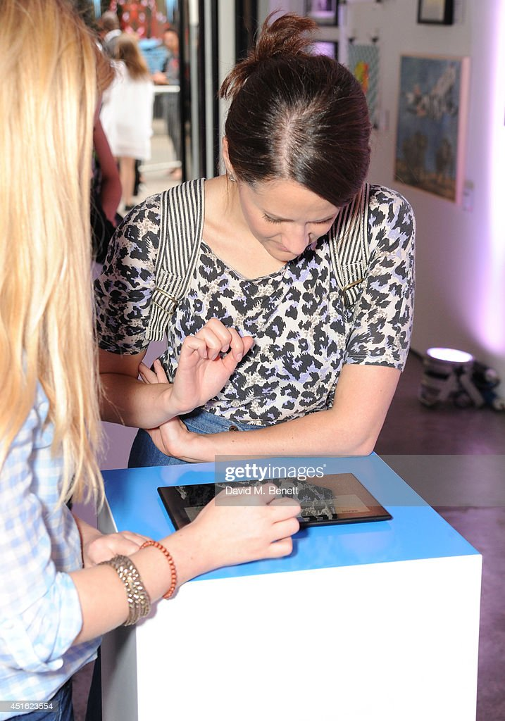 Atmosphere at the Nokia Lumia 630 #100aires Pop-up store, at The Old Truman Brewery on July 2, 2014 in London, England.