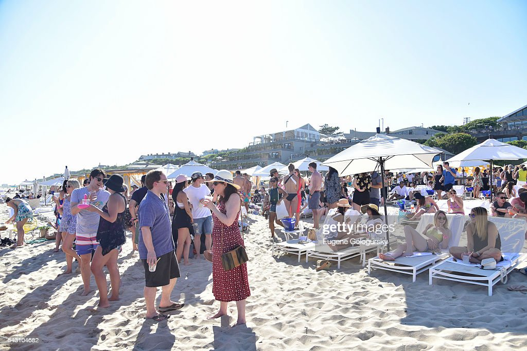 Atmosphere at the NYMag + San Pellegrino Beach Party at Gurney's Montauk Resort and Seawater Spa on June 25, 2016 in Montauk, New York.