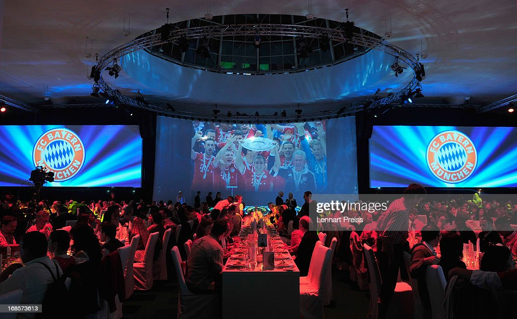 Atmosphere at the Official Champion dinner of Bayern Muenchen after winning the German championship at Postpalast on May 12, 2013 in Munich, Germany.