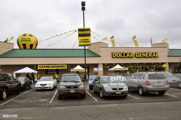 Atmosphere at the official opening of the North Arlington Dollar General Store on September 12 2009 in North Arlington New Jersey
