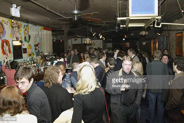Atmosphere at the Opening Night Party for 'Dream a Little Dream' The Mamas and the Papas Musical at The Bitter End in New York City on April 23 2003