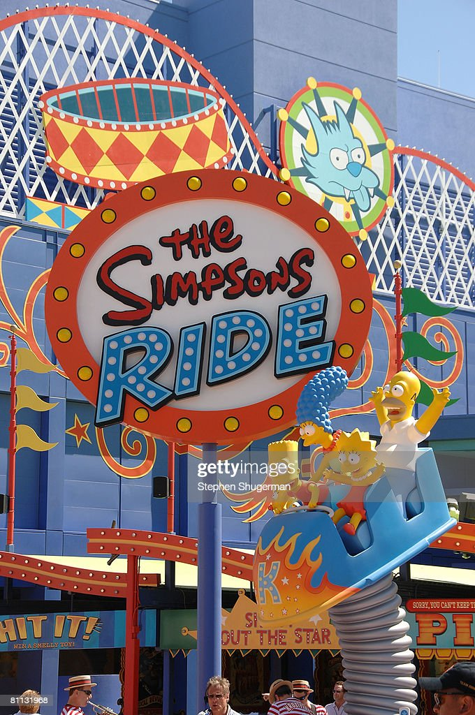 Atmosphere at the opening of 'The Simpsons' Ride at Universal Studios May 17 2008 in Universal City California