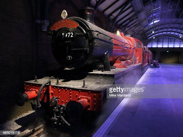 Atmosphere at the preview of the new Warner Bros Studio tour exhibit including the original Hogwarts Express and a recreation of Platform 9 3/4 at...