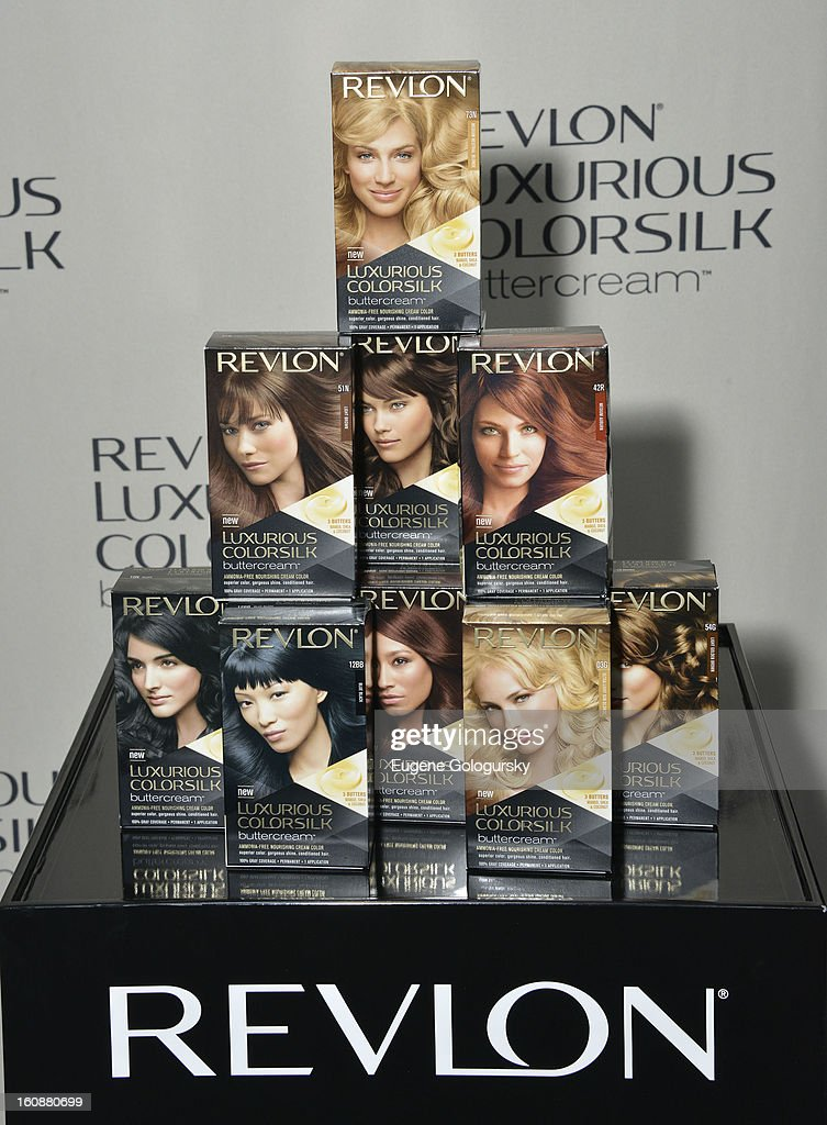 Atmosphere at the Revlon Luxurious ColorSilk Buttercream launch hosted by Olivia Wilde at The Royalton Hotel on February 7, 2013 in New York City.