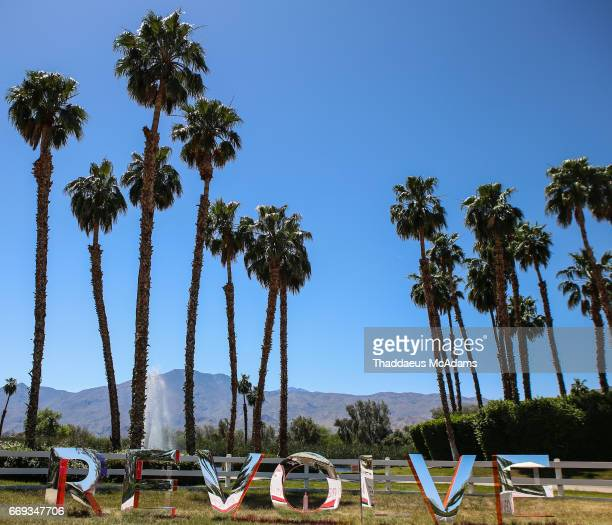 atmosphere at the REVOLVE Desert House during Coachella on April 15 2017 in Palm Springs California on April 15 2017 in Palm Springs California