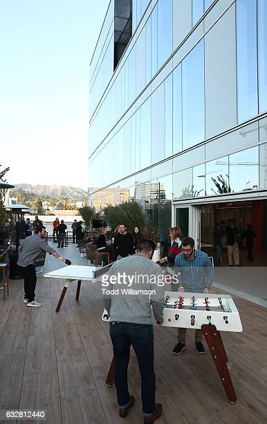 Atmosphere at the Ribbon Cutting for the new Viacom Building on January 26 2017 in Los Angeles California