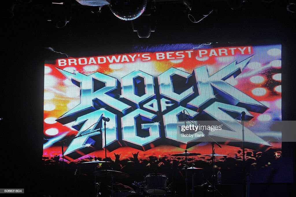 Atmosphere at the Rock of Ages Reunion Concert backstage at the 'Rock Of Ages' Broadway Cast Reunion Concert at Highline Ballroom on January 25 2016...
