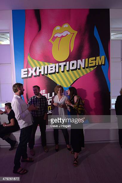 Atmosphere at the Rolling Stones Exhibitionism launch party at Saatchi Gallery on July 2 2015 in London England