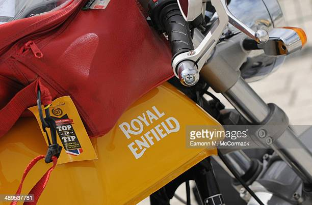 Atmosphere at the Royal Enfield Continental GT 'Top to Tip' 50th anniversary on May 11 2014 in Silverstone Northampton
