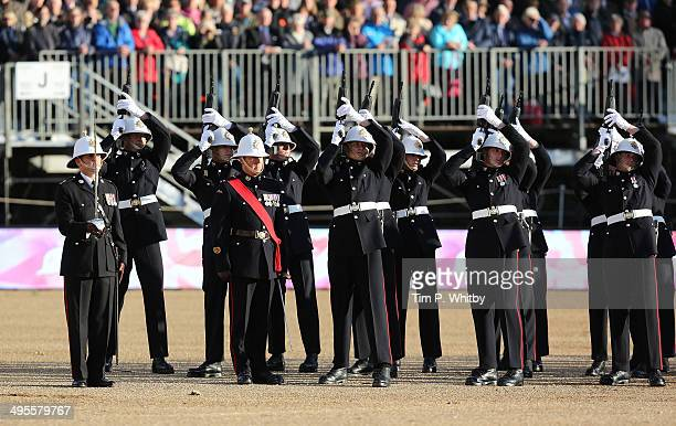 Atmosphere at The Royal Marines 350th Anniversary Beating Retreat at The Royal Horseguards on June 4 2014 in London England